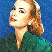Grace Kelly Painting Poster