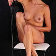 Grace Nude Relaxing On A Chair Poster
