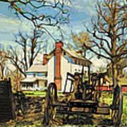 Graeme Park Farmhouse View Poster