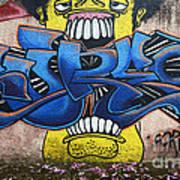 Graffiti Art Curitiba Brazil 7 Poster by Bob Christopher