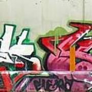 Graffiti Hot Red Hot Pink Poster