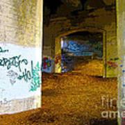 Graffiti Under The Bridge Poster