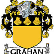 Grahan Coat Of Arms Irish Poster