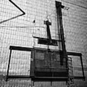 grain elevator doors and filling pipe leader Saskatchewan Canada Poster