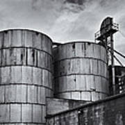 Grain Silos Poster
