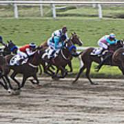Gran Premio Nacional Horse Racing In Buenos Aries Poster