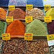 Grand Bazaar Spices In Istanbul Poster
