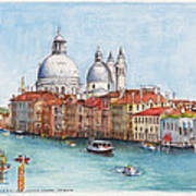 Grand Canal And Santa Maria Della Salute Venice Poster