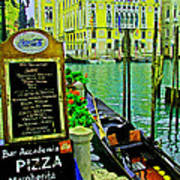 Grand Canal Scene Poster