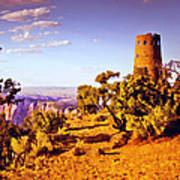 Grand Canyon National Park Golden Hour Watchtower Poster