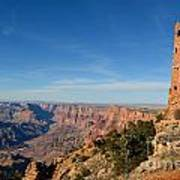 Grand Canyon National Park Mary Colter Designed Desert View Watchtower Near Sunset Poster