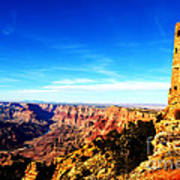 Grand Canyon National Park Mary Colter Designed Desert View Watchtower Vivid Poster