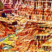 Grand Canyon Navajo Painting Poster