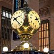 Grand Central Station Clock Poster