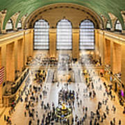 Grand Central Terminal Birds Eye View I Poster by Susan Candelario