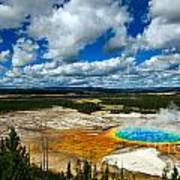 Grand Prismatic Pool Yellowstone National Park Poster