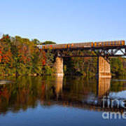 Grand River Autumn Freight Train Poster