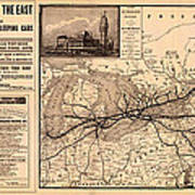 Grand Trunk Railway Map 1887 Poster