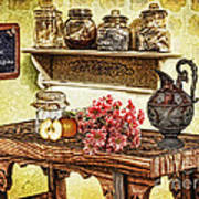 Grandma's Kitchen Poster by Mo T