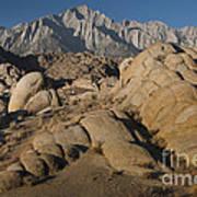 Granite Rock Formations, Alabama Hills Poster