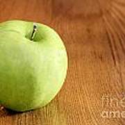 Granny Smith Apple On Table Poster