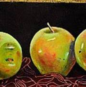 Granny Smith On Red Poster