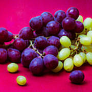 Grapes White And Red Poster