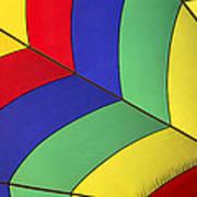 Graphic Hot Air Balloon Detail Poster