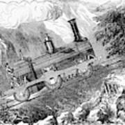 Grassi Locomotive, 1857 Poster