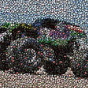Grave Digger Bottle Cap Mosaic Poster by Paul Van Scott