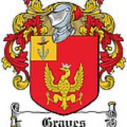 Graves Coat Of Arms Irish Poster