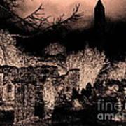 Graveyard At Night Poster