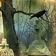 Graveyard Cross Poster