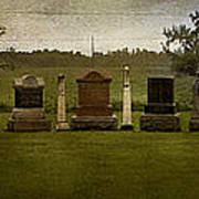 Graveyard Landscape Photograph Poster