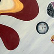 Gray And Bordo Style Poster by Yafit Seruya