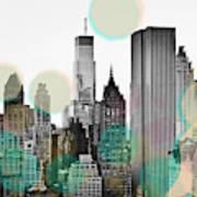 Gray City Beams Poster