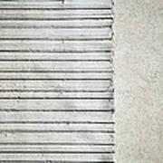Gray Line Concrete Wal Poster