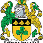 Greaghan Coat Of Arms Irish Poster