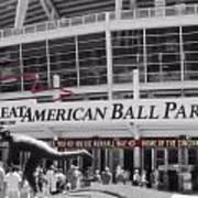 Great American Ball Park And The Cincinnati Reds Poster