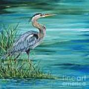 Great Blue Heron-2a Poster