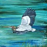 Great Blue Heron-3a Poster