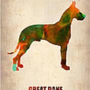 Great Dane Poster Poster by Naxart Studio