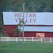 Great Fall View Of Huzzah Barn Poster