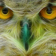 Great Horned Eyes Fractal Poster
