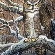Great Horned Owl Another Storm Poster
