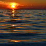 Great Lake Sunset Poster