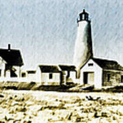 Great Point Lighthouse Nantucket Poster