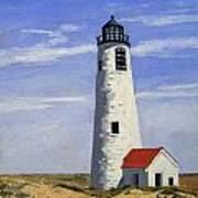 Great Point Lighthouse Nantucket Massachusetts Poster