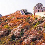 Great Wall In Springtime Poster