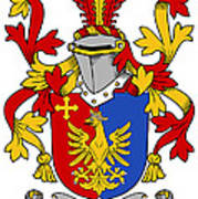 Greaves Coat Of Arms Irish Poster